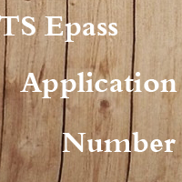TS Epass Application Number