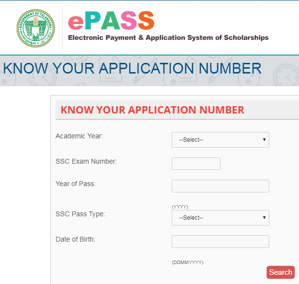 TS e Pass Application Number